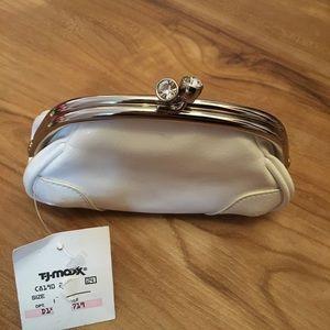 Express white purse